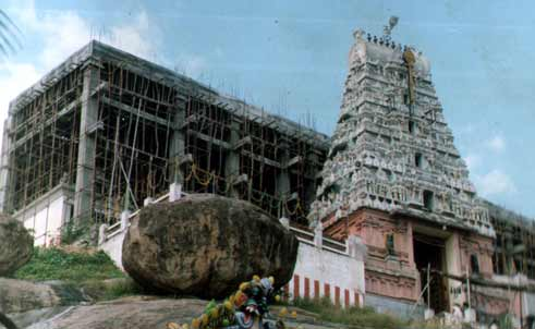 Devasthanam during construction
